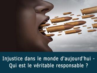 Injustice dans le monde d'aujourd'hui