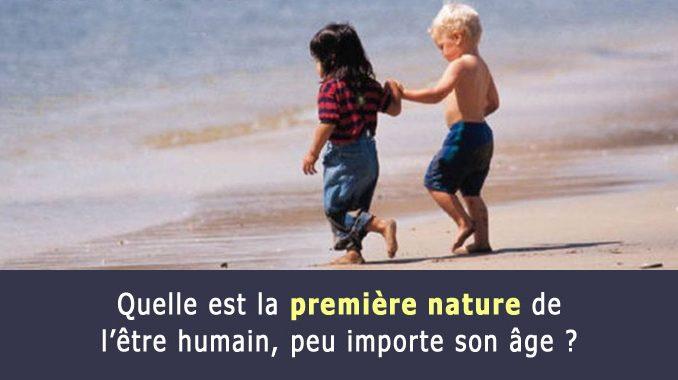 Première nature de l'être humain