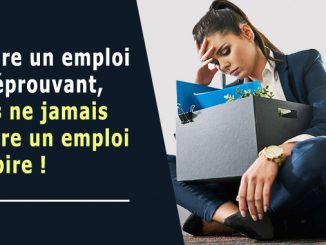 Perdre un emploi est éprouvant