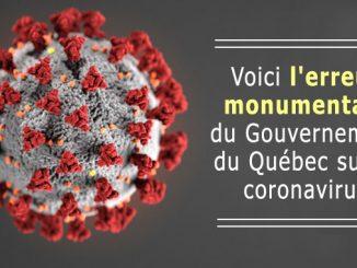 Erreur de stratégie du coronavirus